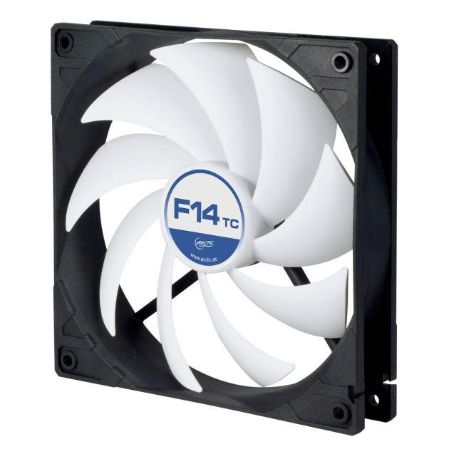 ARCTIC F14 TC ventilátor, 140x140x27 mm, temperature control, 3pin, 12V
