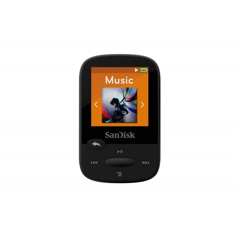 Sandisk CLip Jam MP3 Player 4GB, microSDHC, Radio FM, yellow