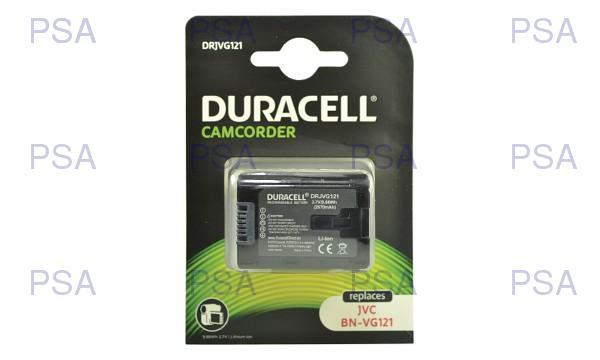 DURACELL Baterie - baterie do kamery nahrazuje JVC BN-VG114U, 3,7 V, 2670 mAh