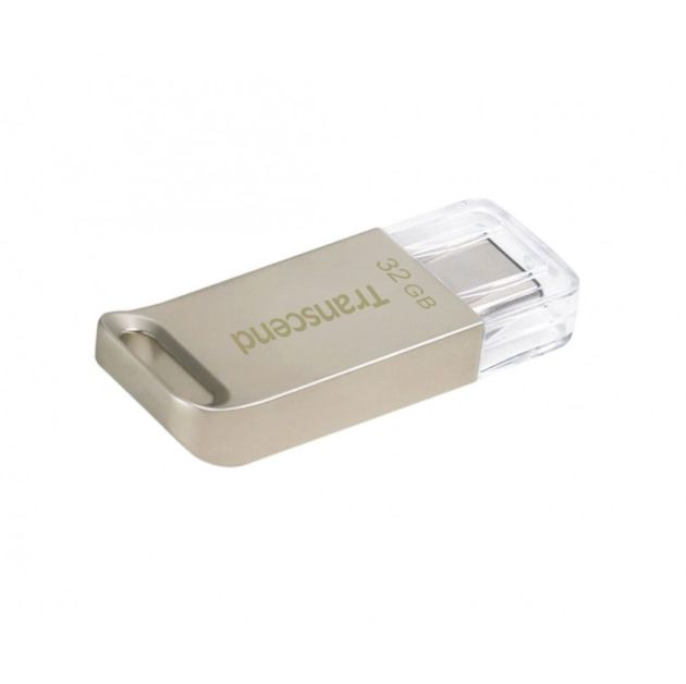 TRANSCEND USB Flash Disk JetFlash®850S OTG, 32GB, USB 3.1 Type-C, Silver (R/W 130/30 MB/s)