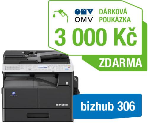 Minolta kopírka bizhub 306 (A3, 30ppm, Duplex, LAN/USB, GDI)