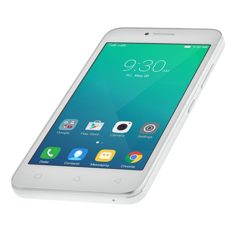 "Lenovo Smartphone A Plus Dual SIM/4,5"" TN/800x480/Quad-Core/1,3GHz/1GB/8GB/5Mpx/3G/Android 5.1/White"