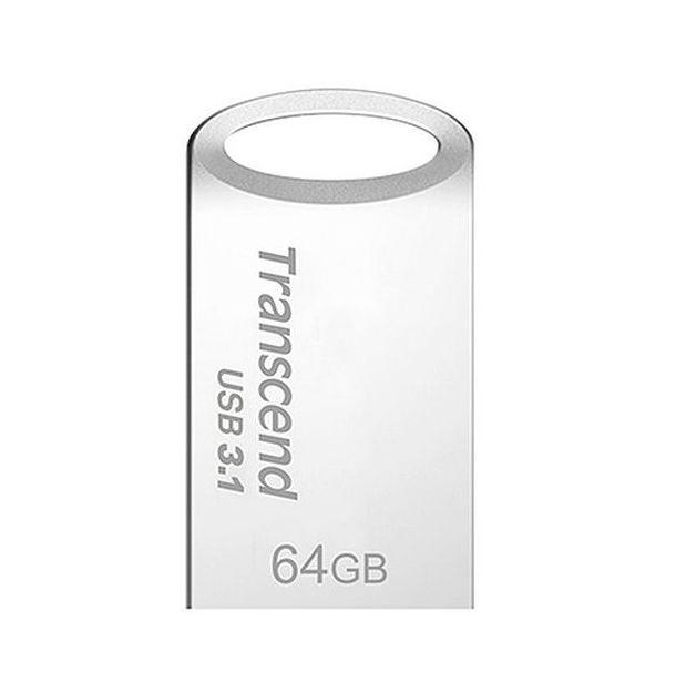 Transcend 64GB JetFlash 710S, USB 3.1 flash disk, malé rozměry, stříbrný kov