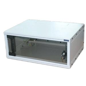 """19""""rozvaděč jednodílný 12U/400mm FLAT-PACK skl.dv."""