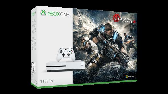 Xbox One S 1TB Gears of War 4 Bundle + 6M live