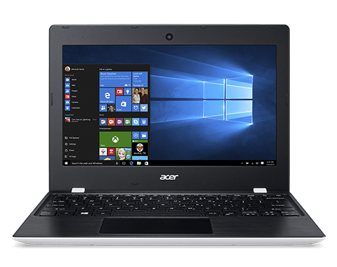 "Acer Aspire One 11 (AO1-132-C3WT) Celeron N3060/2GB+N/A/eMMC 32GB+N/A/HD Graphics/11.6"" HD matný/BT/W10 Home/Cloud White, Black"
