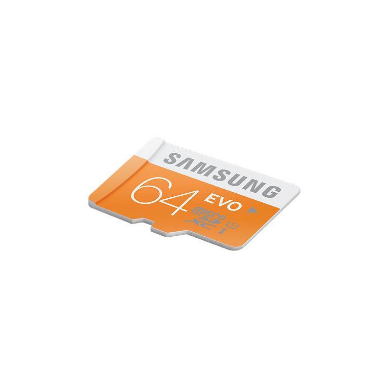 Samsung paměťová karta microSDXC 64GB Class 10 UHS-I Evo (rychlost až 48MB/s)