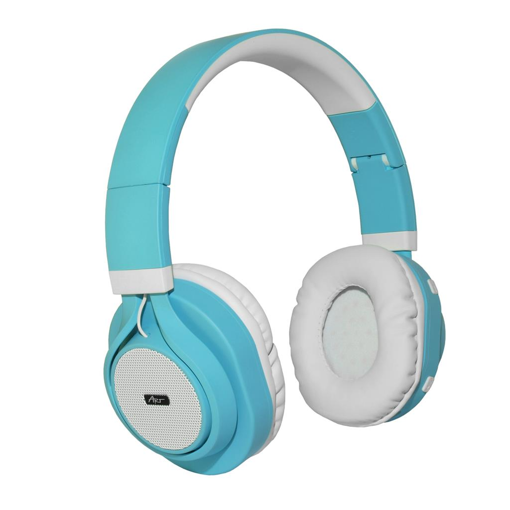 ART Bluetooth Headphones with microphone AP-B04 white/cyan