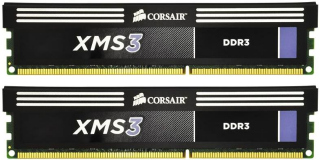 Corsair XMS3 8GB (Kit 2x4GB) 1600MHz DDR3 CL9 DIMM 1.65V Heat Spreader, chladič