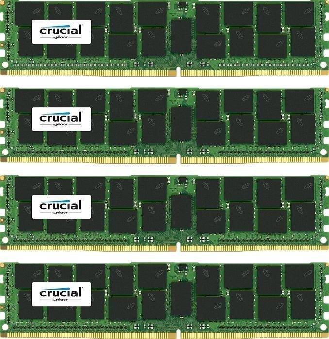 Crucial 4x16GB 2400MHz DDR4 CL17 DR x4 ECC Registered DIMM 288pin