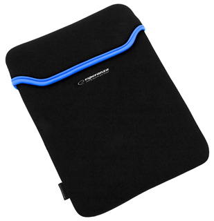 Esperanza ET173B Pouzdro pro tablet 10.1'' (16:9), 3mm neoprén, černo-modré