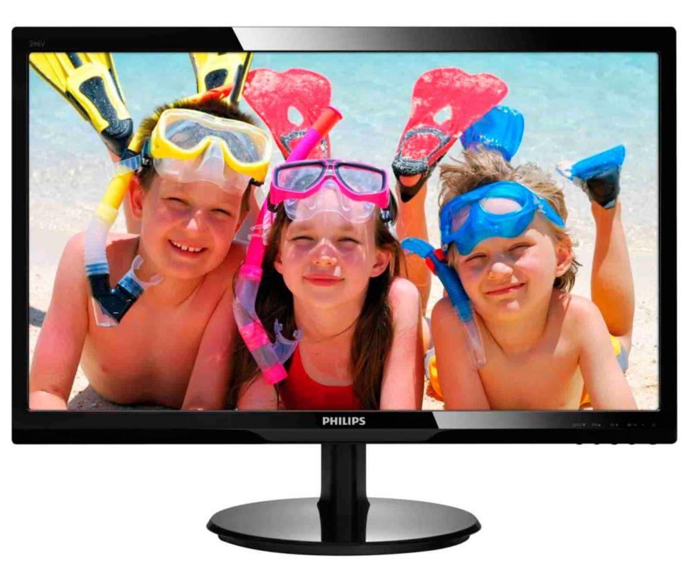 Philips LCD 246V5LSB/00, 24'' LED,5ms,DC10mil:1,DVI,1920x1080, č