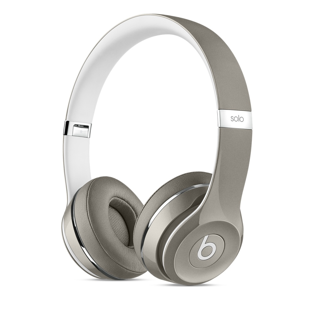 Beats Solo2 On-Ear Headphones Luxe - Silver