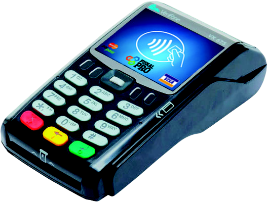 X-POS Platební terminál VX675 BASIC -WiFi + Bluetooth + baterie - SKLADOVKA