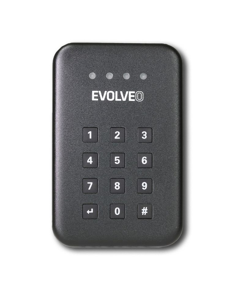 """EVOLVEO 2.5"""" Encrypt 1, externí rámeček na HDD, USB 3.0, celohliníkový, antivibrační silikonový kryt"""