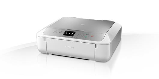 Zlevněné zboží: Canon PIXMA MG5753 - PSC/Wi-Fi/AP/Duplex/4800x1200/USB white/silver +PP-201