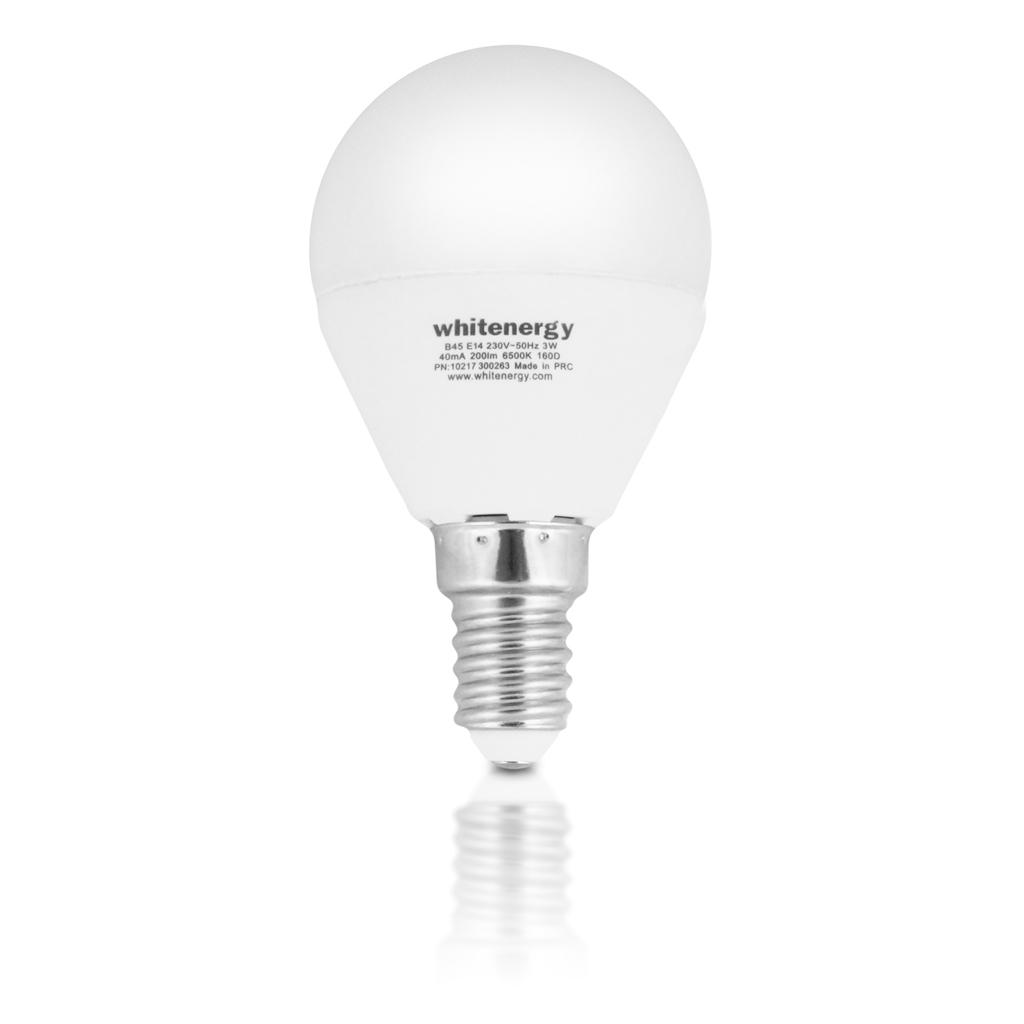 WE LED žárovka SMD2835 P45 E14 3W teplá bílá