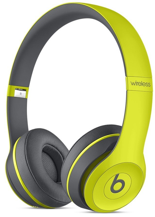 Beats Solo2 Wireless Headphones, Active - Yellow