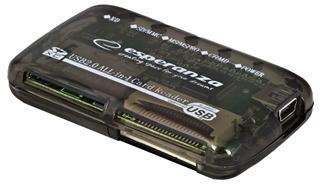 Esperanza EA117 Čtečka karet All-in-One USB 2.0