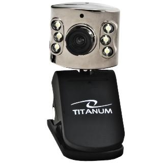 Titanum TC102 AMBER Webkamera 5Mpx s mikrofonem, 6x LED, USB