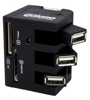 Esperanza EA131 COMBO Čtečka karet All-in-One + Hub USB 2.0, 3 porty