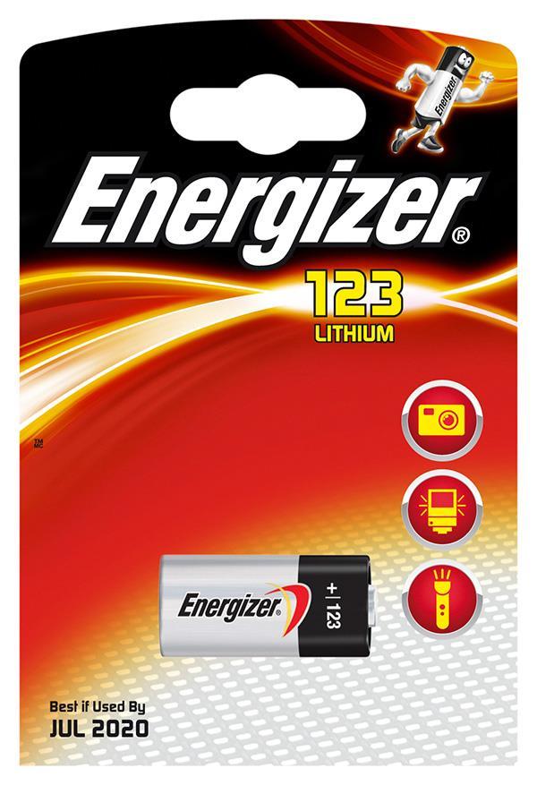 Baterie, ENERGIZER Photo Lithium, 123, 3V