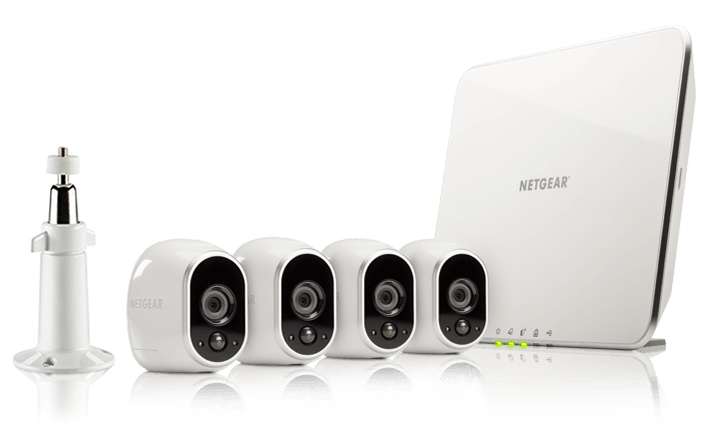 ARLO 4 x HD Camera WiFi + Smart Home Base Day/Night In/0utdoor (VMS3430)