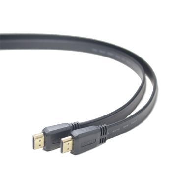 PREMIUMCORD HDMI High Speed + Ethernet plochý kabel, zlacené konektory, 3m