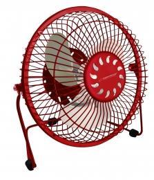 Esperanza EA149R YUGO stolní ventilátor 6'', USB, červený