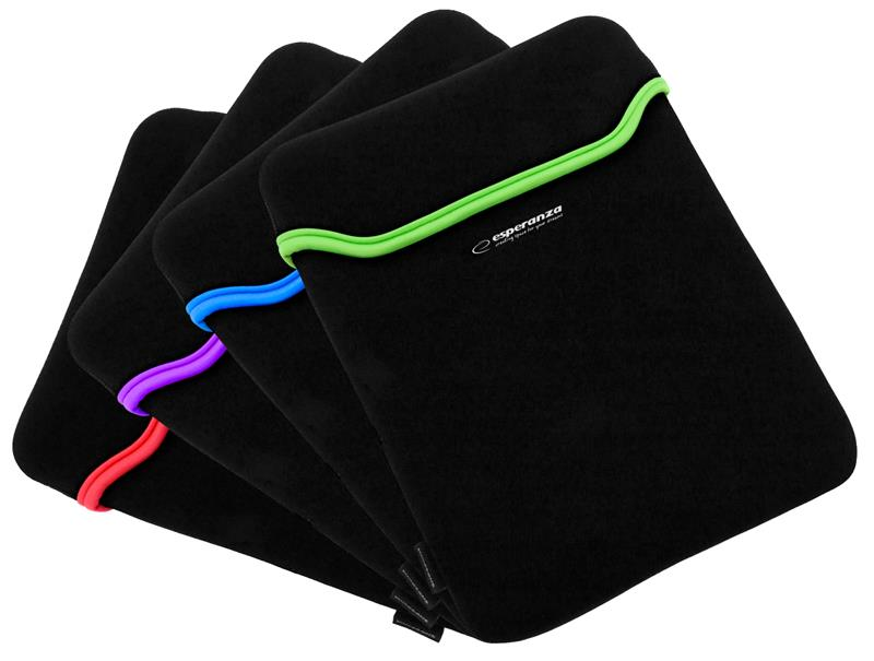 Esperanza ET174M pouzdro pro notebook 15.6'', 3mm neoprén, mix barev