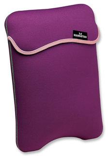 Manhattan Pouzdro na notebook 12,1'' oboustranné fialová/béžová