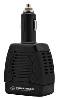 Esperanza EZ104K Měnič napětí 75W   12V DC/220-230V AC   USB 5V/1.5A