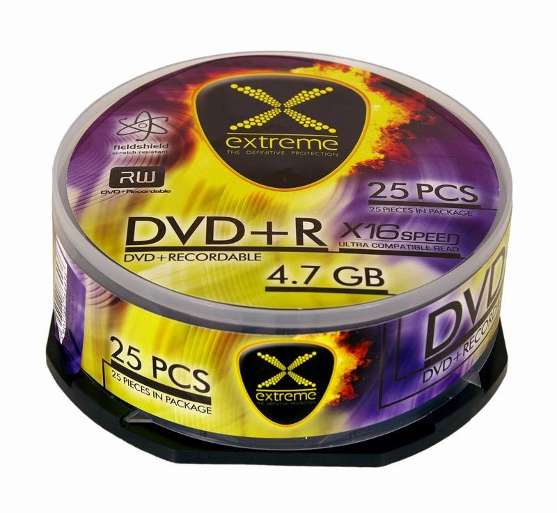 Extreme DVD+R [ cakebox 25 | 4.7GB | 16x ]