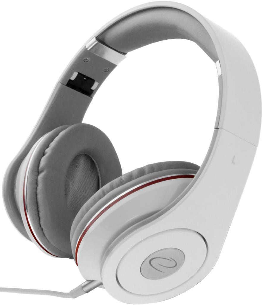 Esperanza EH141W RENELL Stereo sluchátka, skládací, ovl. hlasitosti, 5m, bílá