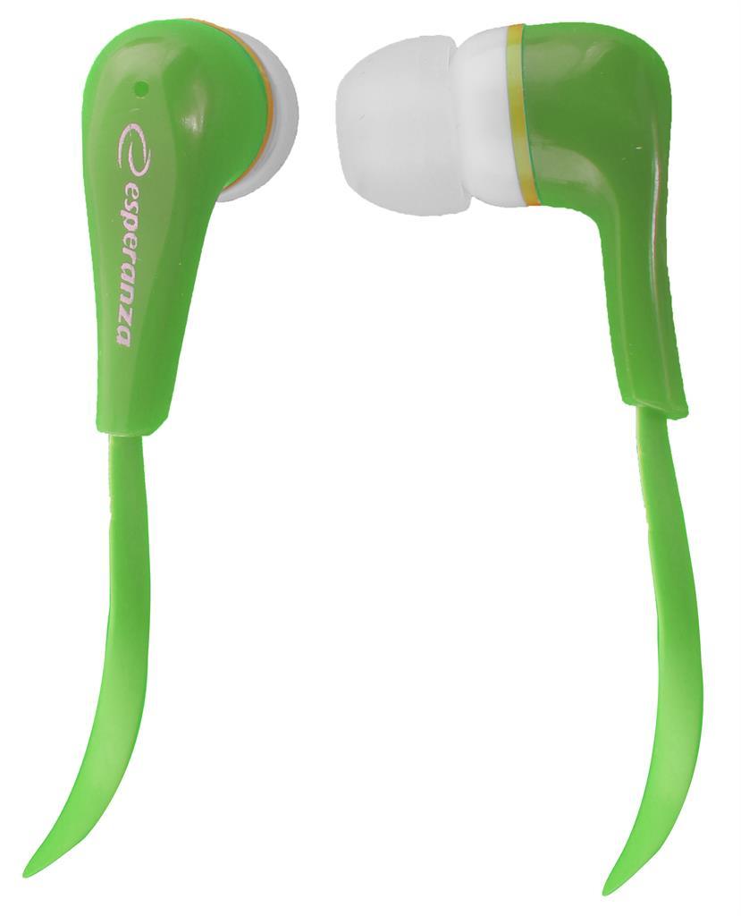 Esperanza EH146G LOLLIPOP Stereo sluchátka do uší, zelená