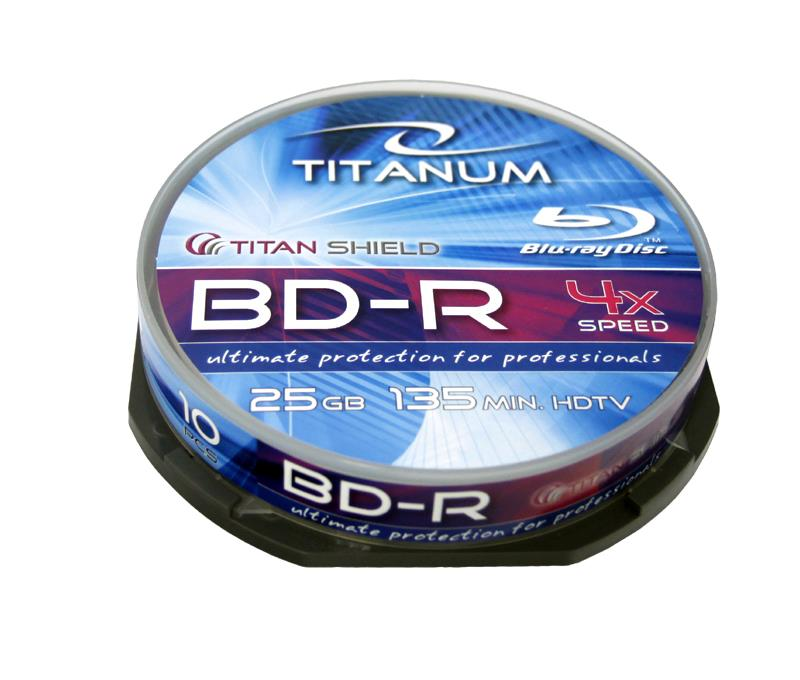 Titanum Blu-ray BD-R [ Cake Box 10 | 25GB | 4x ]