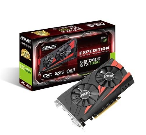 ASUS Expedition GeForce GTX 1050 OC, 2GB GDDR5, PCI Express 3.0