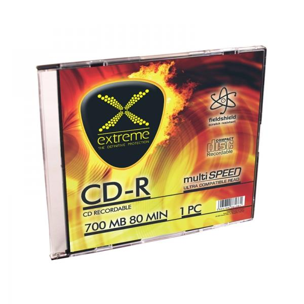 Extreme CD-R [ slim jewel case 1 | 700MB | 52x ]