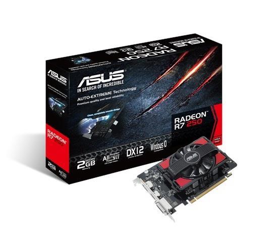 ASUS Radeon™ R7 250,2GB GDDR5, PCI Express 3.0
