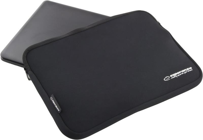 Esperanza ET175K pouzdro pro notebook 15.6'', 3mm neoprén, zip, černé