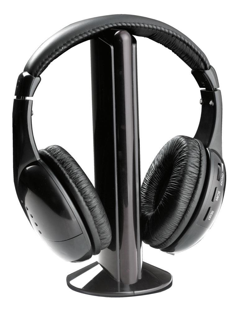 Titanum TH110 LIBERTY Bezdrátová sluchátka s mikrofonem, FM rádio, černá