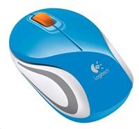 Logitech myš bezdrátová Wireless Mouse M187 Blue, modrá, podpora Unifying