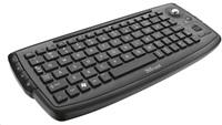 TRUST Klávesnice ADURA Wireless Multimedia Keyboard CZ+SK, bezdrátová, s trackballem, vhodná ke SMART TV