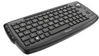 TRUST Klávesnice ADURA Wireless Multimedia Keyboard, bezdrátová, s trackballem, vhodná ke SMART TV