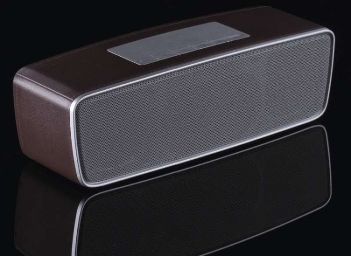 emGo NSL18 soundbox - rádio, MP3, USB, microSD přehrávač, Bluetooth, 2 x 4W, hnědá