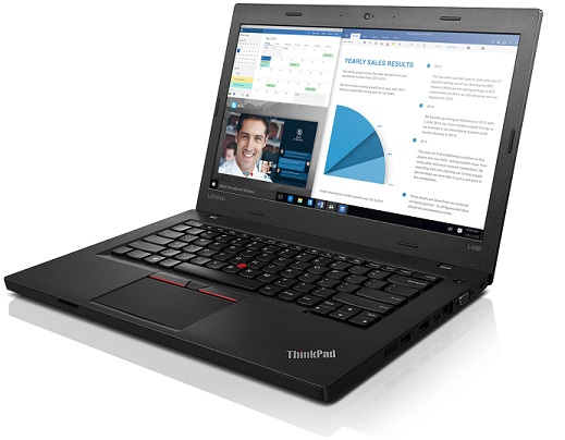 """Lenovo ThinkPad L460 i3-6100U/4GB/256GB SSD/HD Graphics 520/14""""FHD IPS/W10PRO/Black"""