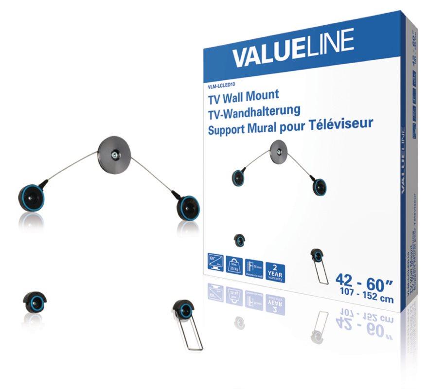 """Valueline nástěnný držák televizoru pro LED TV, 42 až 60"""" / 107 až 152 cm, 25 kg - VLM-LCLED10*"""