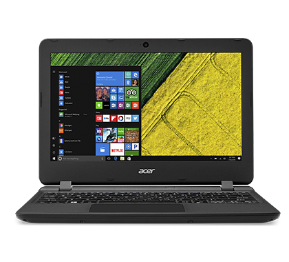 "Acer Aspire ES 11 (ES1-132-C4N2) Celeron N3350/4GB+N/A/32GB eMMC+N/A/HD Graphics/11.6"" HD matný/BT/W10 Home/Black"