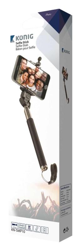 König KN-SMP10 - Teleskopická selfie tyč s pogumovanou rukojetí