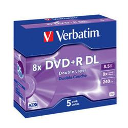 Verbatim - DVD+R 8,5GB 8x Dual-Layer Box 5ks